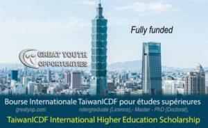 TaiwanICDF International Higher Education Scholarship