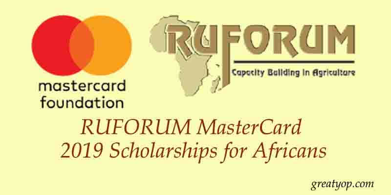 RUFORUM MasterCard 2019 Scholarships for Africans