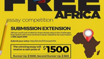 55Voices Visa Free Africa Writing Competition