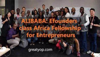 Alibaba eFounders class Africa Fellowship for Entrepreneurs