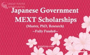 Japanese Government MEXT Scholarship