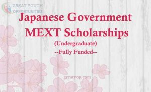 Japanese Government MEXT Scholarship Undergraduate
