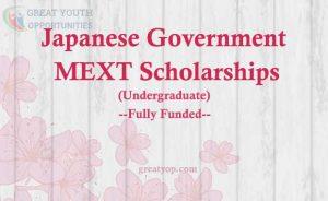 Japanese Government MEXT Scholarship Undergraduate