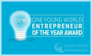 One Young World's Entrepreneur of the Year Award