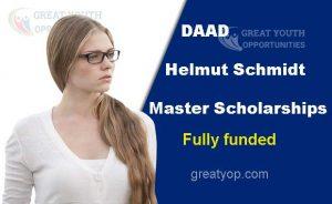DAAD Helmut Schmidt Master Scholarships