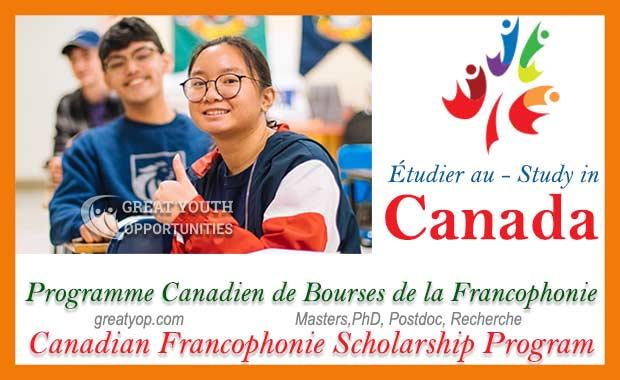 Programme Canadien de Bourses de la Francophonie PCBF