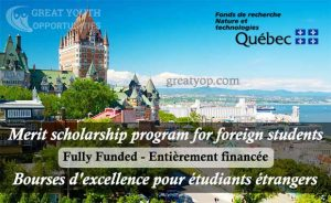 Merit scholarship program for foreign students