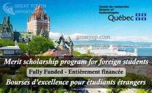 Merit scholarship program for foreign students