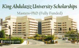 King Abdulaziz University Scholarships