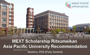 MEXT Scholarship Ritsumeikan Asia Pacific University Recommendation