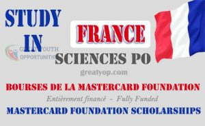Mastercard Foundation Scholarships at Sciences Po