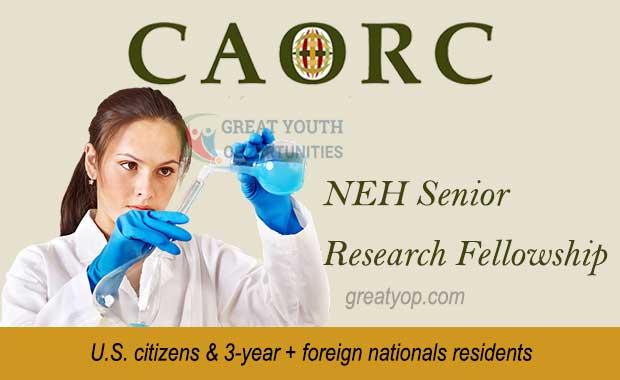 CAORC NEH Senior Research Fellowship