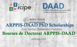 ARPPIS-DAAD PhD Scholarships for Africans