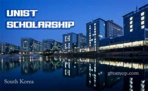 UNIST Scholarship for International Students