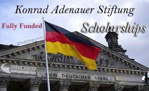 Konrad Adenauer Stiftung scholarship for Master and PHD