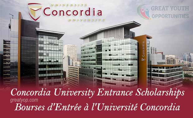 Concordia University Entrance Scholarships to Study in Canada