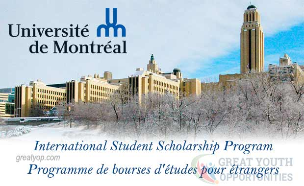 Université de Montréal International Student Scholarship