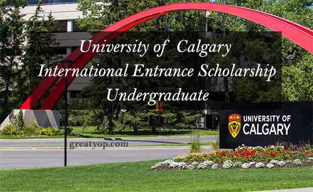 University of Calgary International Entrance Scholarship