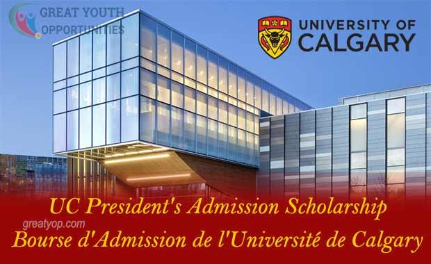 University of Calgary President's Admission Scholarship
