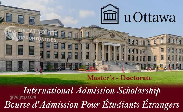 University of Ottawa International Admission Scholarship