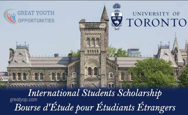 University of Toronto International Students Scholarship