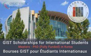 GIST Scholarships for International Students