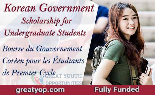 Korean Government Scholarship (GKS) for Undergraduate Students