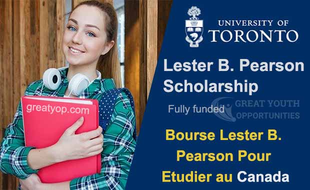 Lester B. Pearson scholarship for international students to study in Canada