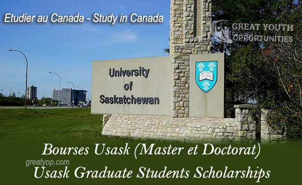 Usask Graduate Students Scholarships To Study in Canada ...