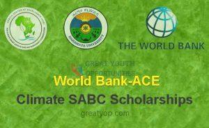 World Bank-ACE Climate SABC Scholarships