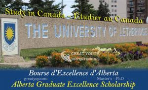 Alberta Graduate Excellence Scholarship at uLeth