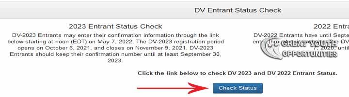 DV Lottery Status Check