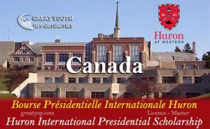 Huron Canada International Presidential Scholarship