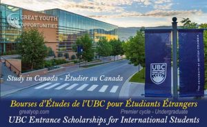 University of British Columbia Entrance Scholarships for International Students
