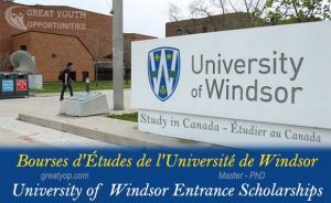 University of Windsor Entrance Scholarships to study in Canada