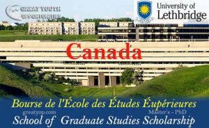 University of Lethbridge School of Graduate Studies Scholarship
