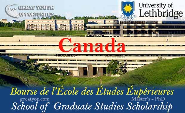 University of Lethbridge School of Graduate Studies Scholarship