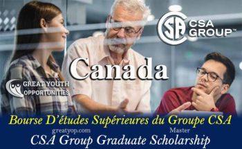 CSA Group Graduate Scholarship To Canada