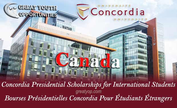 Concordia Presidential Scholarships for International Students
