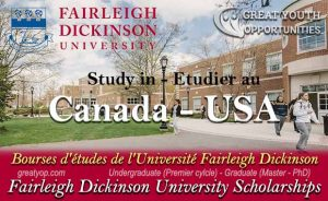 Fairleigh Dickinson University Scholarships to study in Canada and USA