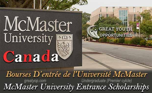 McMaster University in Canada Entrance Scholarships
