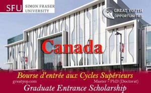 Simon Fraser University Canada Graduate Entrance Scholarship