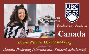 Donald Wehrung International Student Scholarship to Canada