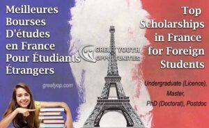 meilleures bourses études en France pour les étudiants étrangers