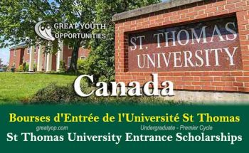 St Thomas University Entrance Scholarships to Study in Canada