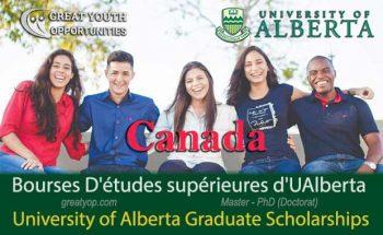 University of Alberta Scholarships to study in Canada