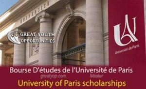 Bourses d'études de l'Université de Paris pour étudiants étrangers