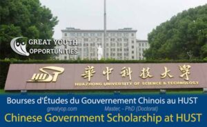 Chinese Government Scholarship at Huazhong University of Science and Technology