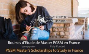bourses d'étude de Master PGSM en France