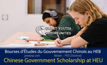 Chinese Government Scholarship at Harbin Engineering University